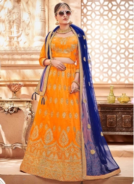 Art Silk A Line Lehenga Choli For Festival