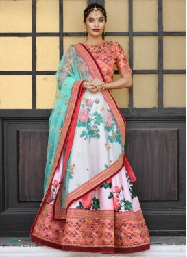 Art Silk A Line Lehenga Choli For Party