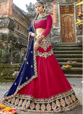 Art Silk A - Line Lehenga For Party
