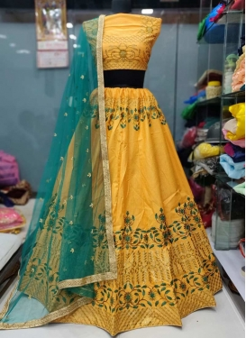 Art Silk Aari Work Trendy Lehenga Choli