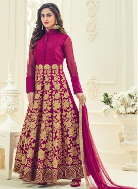 Art Silk Ankle Length Anarkali Salwar Suit