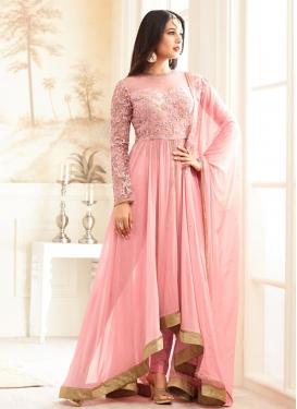 Art Silk Asymmetrical Designer Salwar Suit