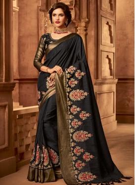 Art Silk Beads Work Trendy Classic Saree