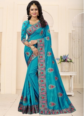 Art Silk Booti Work Traditional Saree
