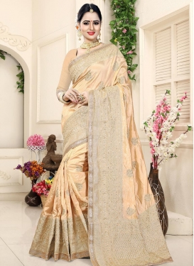 Art Silk Booti Work Trendy Classic Saree