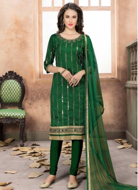 Art Silk Churidar Salwar Kameez