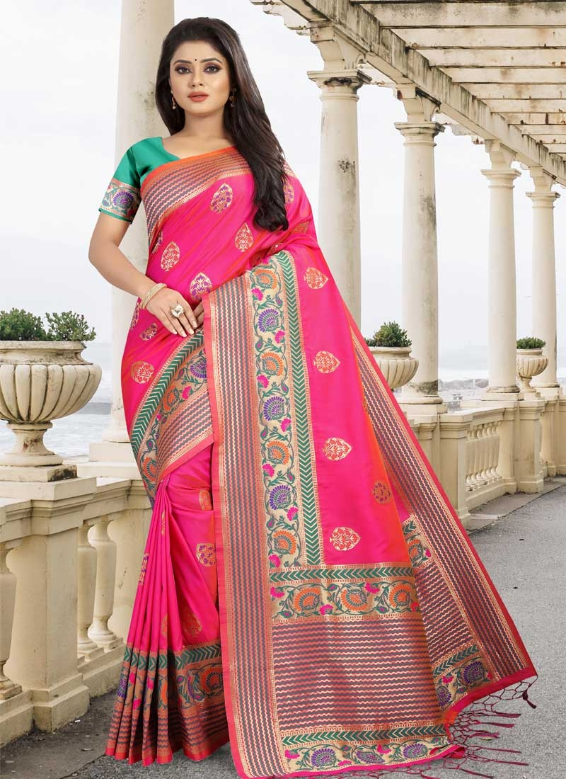 Art Silk Classic Saree For Party