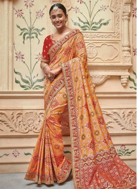 Art Silk Contemporary Saree For Bridal