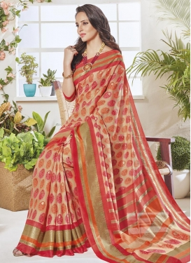 Art Silk Contemporary Saree For Casual