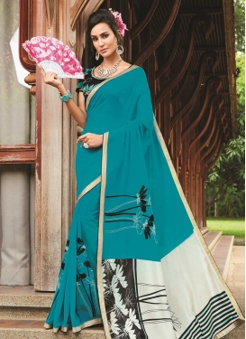 Art Silk Contemporary Saree For Casual