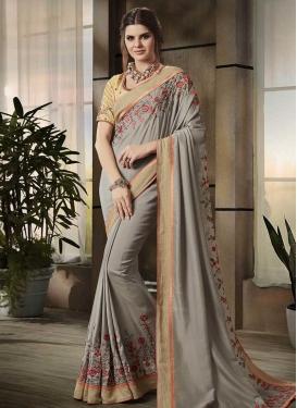 Art Silk Contemporary Saree For Ceremonial