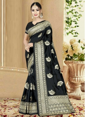 Art Silk Contemporary Style Saree For Ceremonial