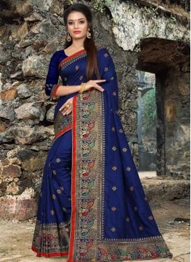 Art Silk Contemporary Style Saree For Festival