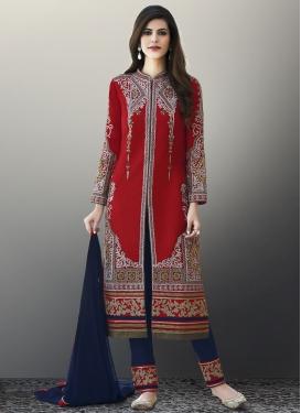 Art Silk Cutdana Work Pant Style Classic Salwar Suit