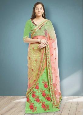 Art Silk Designer A Line Lehenga Choli