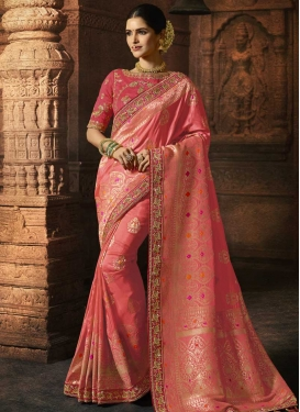 Art Silk Designer Contemporary Saree For Bridal