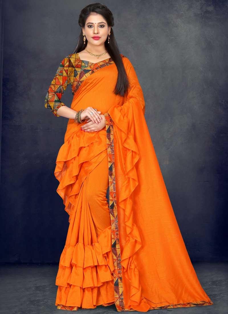 Art Silk Designer Contemporary Saree For Ceremonial