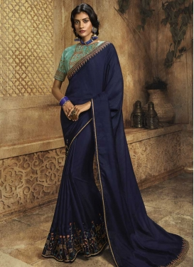 Art Silk Designer Contemporary Saree For Festival