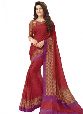 Art Silk Designer Contemporary Style Saree For Casual