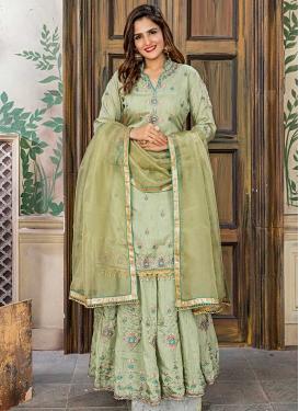Art Silk Designer Straight Salwar Kameez