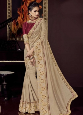 Art Silk Designer Traditional Saree For Ceremonial