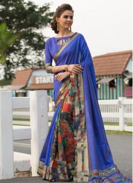 Art Silk Digital Print Work Classic Designer Saree