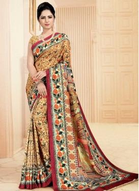 Art Silk Digital Print Work Designer Traditional Saree