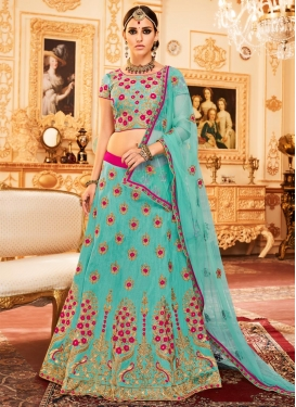 Art Silk Embroidered Work Designer Classic Lehenga Choli