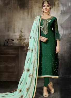 Art Silk Embroidered Work Designer Pakistani Salwar Suit