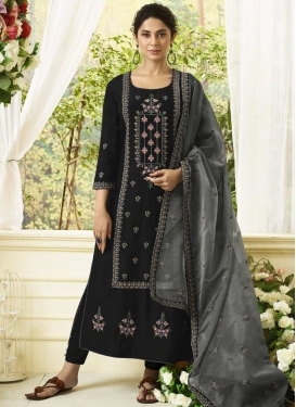Art Silk Embroidered Work Pant Style Pakistani Salwar Suit