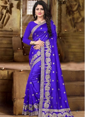 Art Silk Embroidered Work Traditional Saree