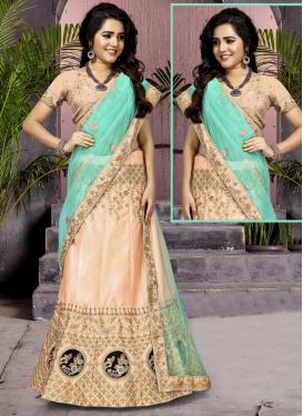 Art Silk Embroidered Work Trendy Lehenga