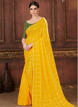 Art Silk Embroidered Work Trendy Saree