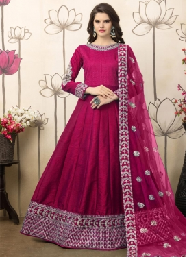 Art Silk Floor Length Anarkali Salwar Suit