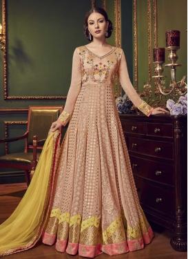 Art Silk Floor Length Anarkali Suit For Festival