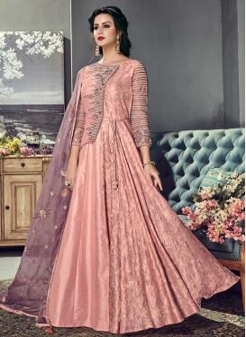 Art Silk Floor Length Designer Salwar Suit