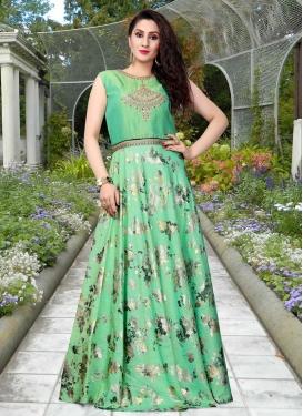 Art Silk Floor Length Gown