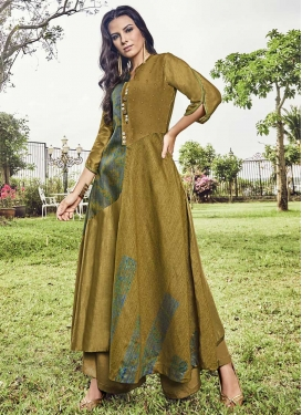 Art Silk Floor Length Gown