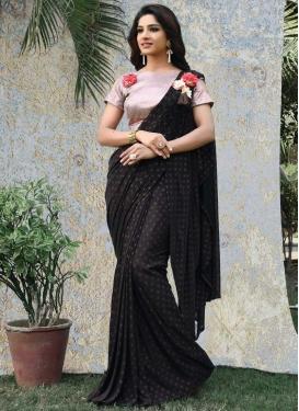 Art Silk Flower Patch Work Traditional Designer Saree