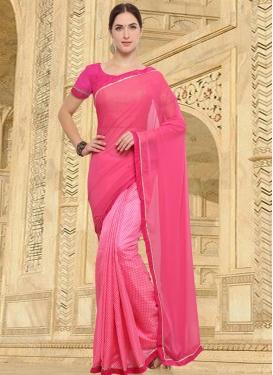 Art Silk Half N Half Designer Saree For Casual