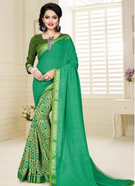 Art Silk Half N Half Designer Saree For Ceremonial