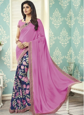 Art Silk Half N Half Saree For Casual