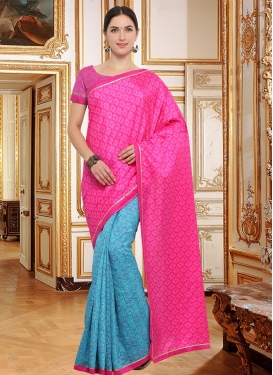 Art Silk Half N Half Trendy Saree