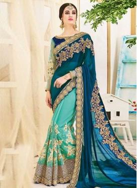 Art Silk Half N Half Trendy Saree For Ceremonial