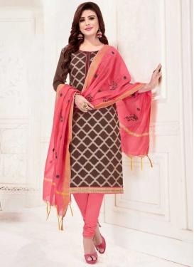Art Silk Lace Work Churidar Salwar Kameez