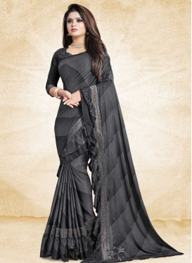 Art Silk Lace Work Classic Designer Saree