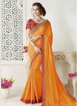 Art Silk Lace Work Classic Saree