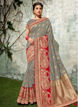 Art Silk Lace Work Classic Saree
