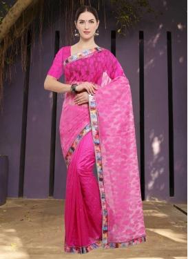 Art Silk Lace Work Contemporary Style Saree