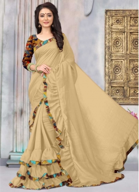 Art Silk Lace Work Designer Contemporary Saree